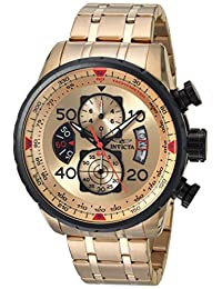 Invicta Men's 17205 Aviator Analog Display Japanese Quartz Gold Watch