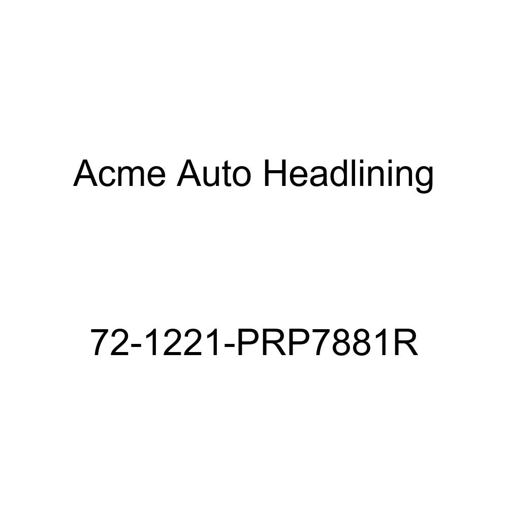 1972 Oldsmobile Cutlass 2 Dr Coupe and Hardtop 5 Bow Acme Auto Headlining 72-1221-PRP7881R Carmine Replacement Headliner