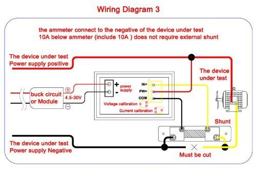 51IZXFlxMgL riorand dc volt amp meter 2in1 digital amperemeter voltmeter led voltmeter ammeter wiring diagram at fashall.co