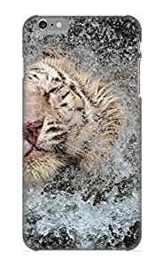 Iphone 6 Plus Animal White Tiger Print High Quality Tpu Gel Frame Case Cover For New Year's Day Kimberly Kurzendoerfer