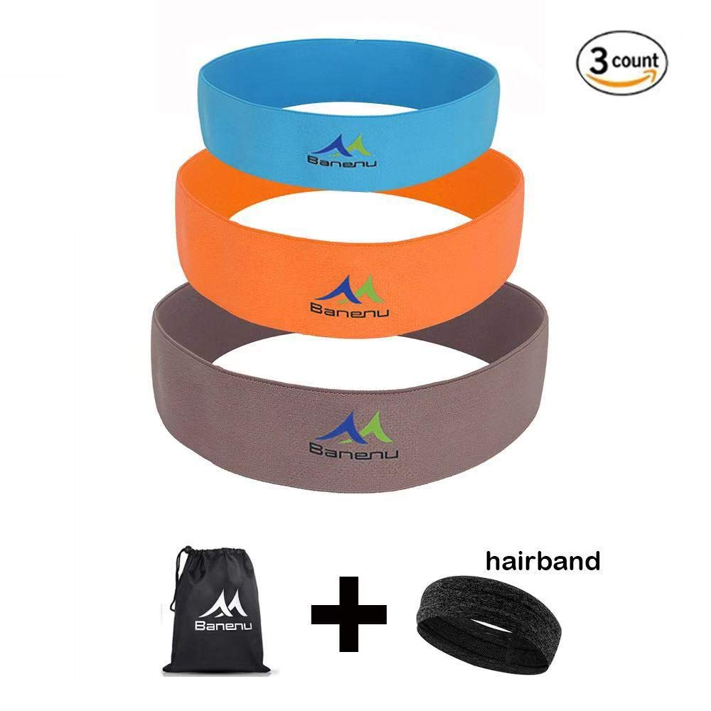 32b8f3fc250d Banenu Booty Hip Resistance Bands Set of 3, Non-Slip Cotton Exercise Loop  Bands - Fitness Bands for Body Shaping & Strength Training - Exercise Legs  & ...