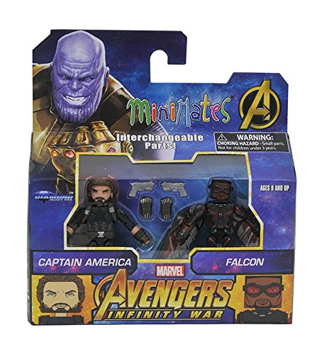 - Minimates Marvel Toys R Us Infinity War Wave 2 Captain America & Falcon 2-Pack