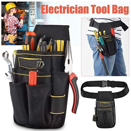 quality | Tool Bags | Oxford Cloth Electrician Tool Waist Bag Hammer Wrench Maintenance Pouch Bag Drill Hammer Storage Adjustable Belt Tool Bag | by EGALIVE | 1 PCs -
