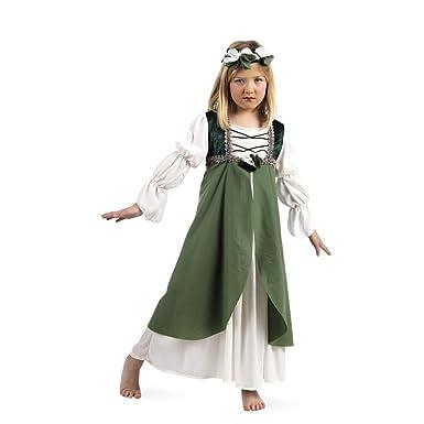 4793a3c868a robe de demoiselle d honneur fille médiévale Costume et accessoires cheveux  pour le vert carnaval  Amazon.fr  Jeux et Jouets