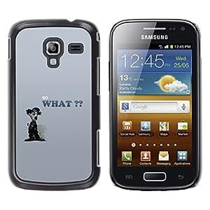 TopCaseStore / la caja del caucho duro de la cubierta de protección de la piel - So What Chaplin - Samsung Galaxy Ace 2 I8160 Ace II X S7560M
