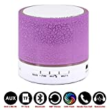 Mini Flashing LED Bluetooth Speakers Wireless Small Music Audio TF USB FM Stereo Sound Speaker,Built-In Microphone,Suitable For A Variety Of Smart Phones , purple