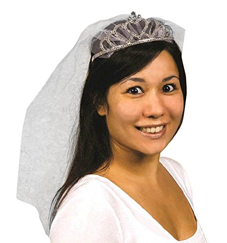 Avant Garde Rhinestone Tiara with Veil Wedding Party Novelty Favours Accessory.