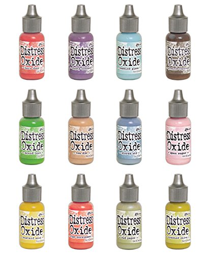 Ranger Tim Holtz Distress Oxides Ink Summer 2018-12 Re-inkers ()