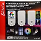 Sunbeam Color Changing LED Power Failure/Night Light 3 Pack
