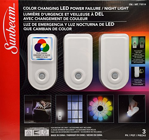 (Sunbeam Color Changing LED Power Failure / Night Light, 3)