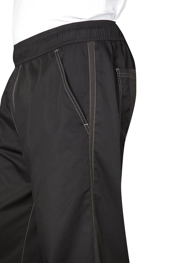 Chef Works Men's Cool Vent Baggy Chef Pants, Black, Small by Chef Works