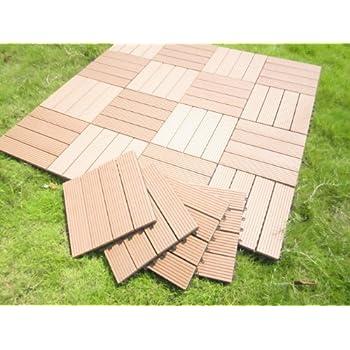 this item century outdoor living deck tile patio composite wood decking interlocking tiles brown slate style pack over grass wooden floor garden ikea de