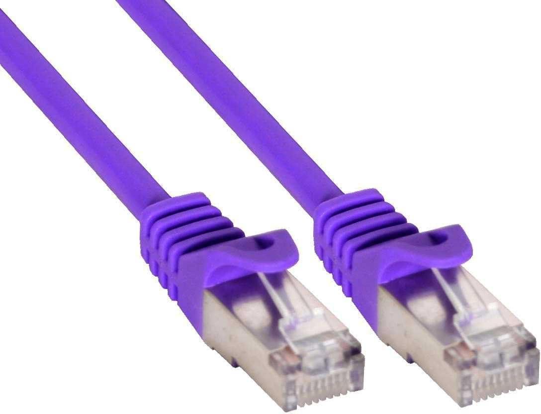 Patch Cable Category 5e Patch Cable Double Shielded 2 x RJ45 Connectors 3m Violet
