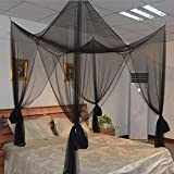 Is There a Bigger Bed Than a King Size AURNEW 4 Corner Post Bed Canopy Mosquito Net Full Queen King Size Netting Bedding (one size)