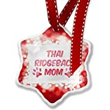 Christmas Ornament Dog & Cat Mom Thai Ridgeback, red - Neonblond