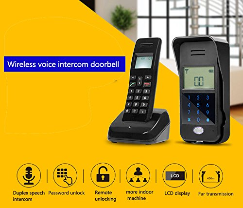 Full Duplex Wireless Voice Intercom Doorbell Scheme Non Visual Intercom Doorbell Intelligent Remote Control Unlock by JIA