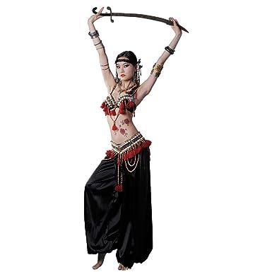 Amazon com: GUILTY BEAUTY Tribal Belly Dance Costume,Bra