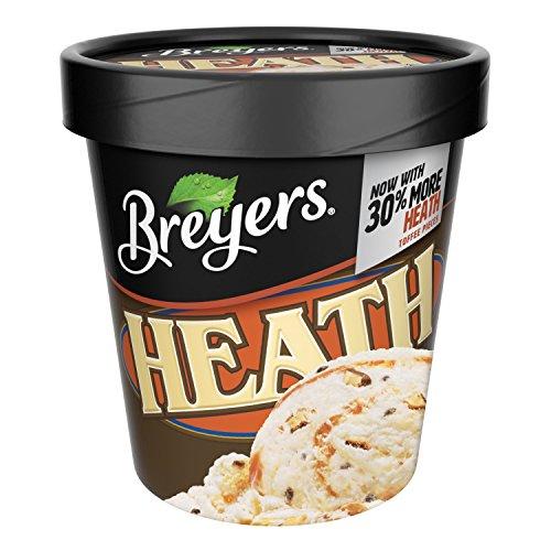Heath Bar Ice Cream - Breyers, Heath English Toffee Ice Cream, Pint (8 Count)