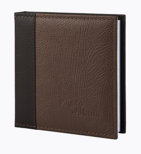 FaCraft Father's Day Gift Photo Album Holds 80 Pieces 5x7 Inch Photos with Leather Cover (Coffee)