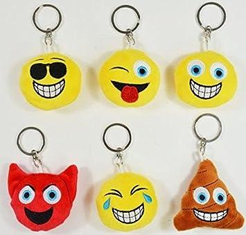 busduga - Emoji llavero 6 caras, diferentes.: Amazon.es ...