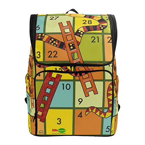 Winning A Snakes and Ladders Game Laptop Backpack Casual Travel Daypack Computer Backpacks Women Men