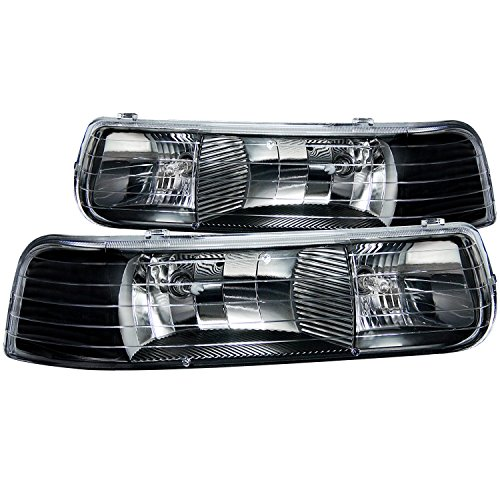 Anzo USA 111155 Chevrolet Silverado Black Clear Headlight Assembly - (Sold in Pairs) ()