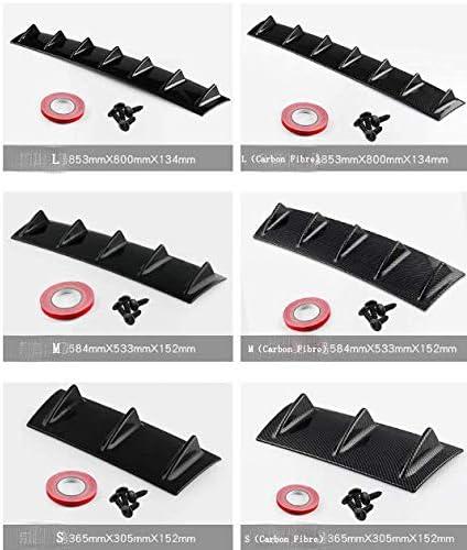 CBTJ Telaio Pinna di squalo Paraurti Posteriore Universale Diffusore a Labbro ABS Pinna di squalo Telaio Deflettore Accessori Auto riparati AntiGraffio
