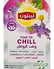 توليفة اعشاب وقت الروقان من ليبتون، 20 كيس شاي مغلف - عبوة من قطعة 1