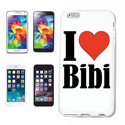 """Handyhülle iPhone 5 / 5S """"I Love Bibi"""" Hardcase Schutzhülle Handycover Smart Cover für Apple iPhone … in Weiß … Schlank und schön, das ist unser HardCase. Das Case wird mit einem Klick auf deinem Smar"""