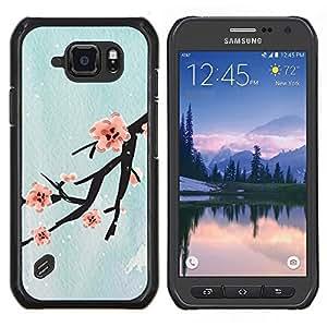 EJOOY---Cubierta de la caja de protección para la piel dura ** Samsung Galaxy S6Active Active G890A ** --Diseño Flor de cerezo