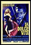 La Dolce Vita Fridge Magnet 12 x 17.5 Fellini Italian Movie Poster Magnetic Canvas Print