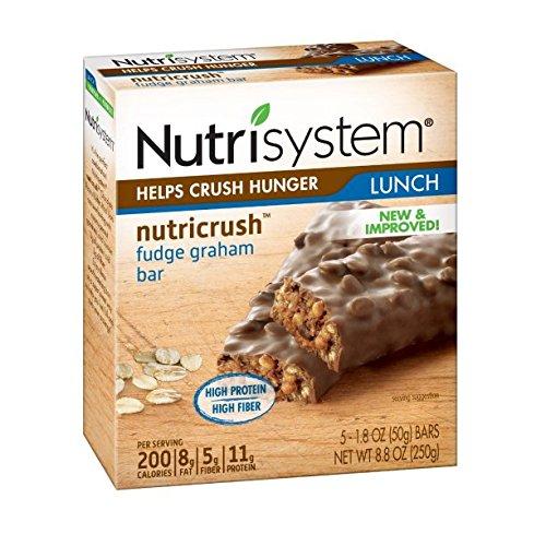 Nutrisystem Fudge Graham Bars 6 Boxes (30 Bars) by Nutrisystem