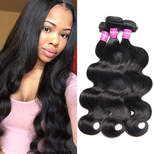 YAEONS 8A Brazilian Virgin Hair Body Wave 3 Bundles 16 18 20inch 100% Unprocessed Virgin Human Hair Weave
