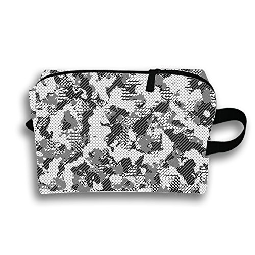 Digital Pattern Travel Cosmetic Bag Portable Makeup Pouch Pencil Holders