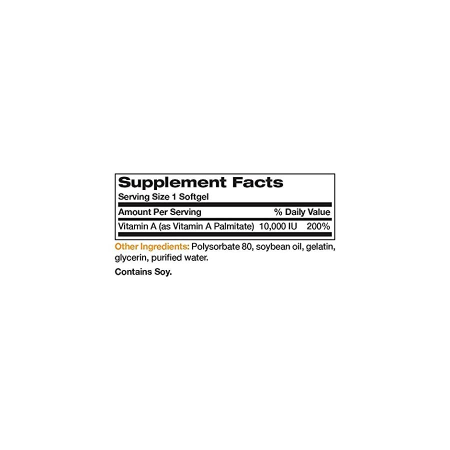 Bronson Vitamin A 10,000 IU Premium Non GMO Formula Supports Healthy Vision & Immune System and Healthy Growth…