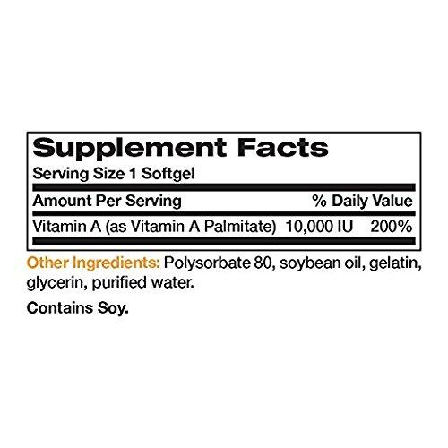 Bronson Vitamin A 10,000 IU, 250 Softgels