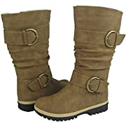 Amazon Lightning Deal 87% claimed: Comfy Moda Women's Winter Snow Fashion Classic Boots Lora in Black & Tan