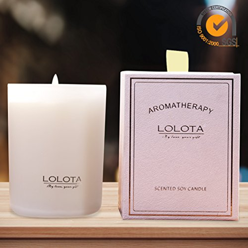 LALATA Clementine,Mandarin & Citrus Scented Candles 9.5 OZ-270g for Stress Relief,All Nature ...