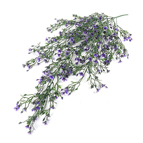 Lily Vine - zbtrade Artificial Flower Vine Plastic Plant Wall Hanging Rattan for Home Garden Decoration,Pack of 1 Purple