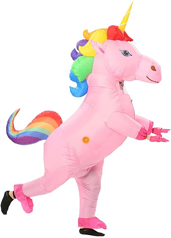 N //A Inflatable Unicorn Costume Halloween