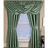Elrene Home Versailles 52×36 Thyme (Green) Back Tab Window Valance