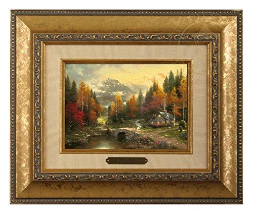 (Thomas Kinkade Valley of Peace Brushwork (Gold Frame))