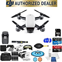 DJI Spark Quadcopter (Alpine White) Beginner Accessory Starter Basic Bundle Package Deal