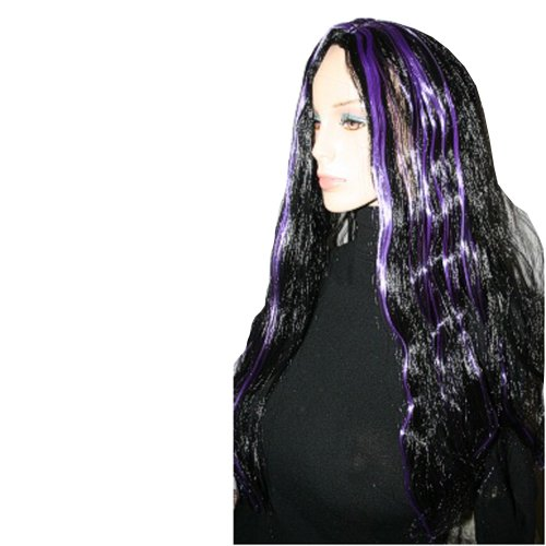 Black and Purple Striped Witch (Witch Striped Wig)