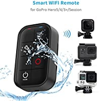 TELESIN Waterproof Smart WIFI Remote Control Set Camera Controller with Charging Cable Wrist Strap for GoPro Hero 6/5/4/3+, Session 4, Session 5 and Fusion