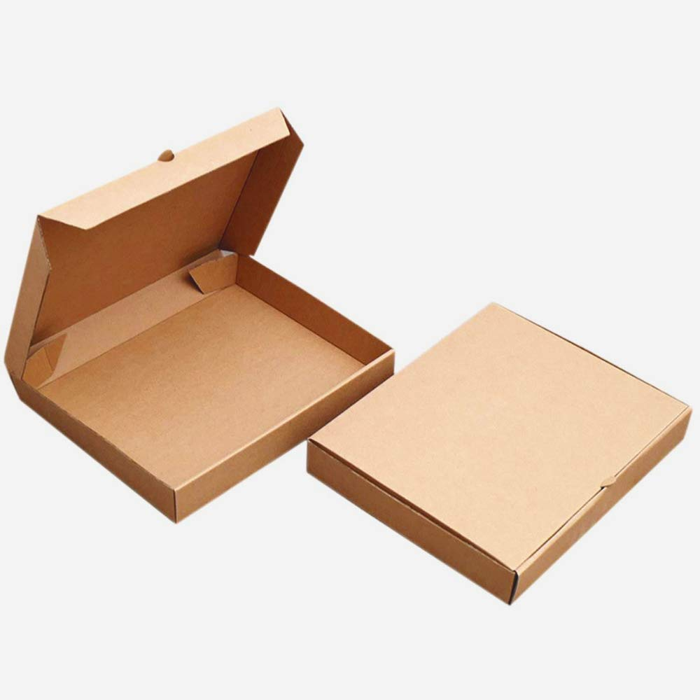 6 inches Premium Kraft Corrugated Pizza Boxes Take Out Containers Pizza Paperboard Box Takeaway Cardboard Takeaway Fast Food Postal Packaging Boxes (Pack of 10)