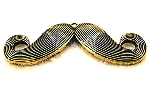10Pcs. Tibetan Antique Bronze Large MUSTACHE Charms Pendants Findings PR255DIY for Necklace Bracelet and Crafting by CharmingSS for $<!--$17.09-->