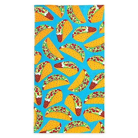 Global Summer Taco Every Day Beach Towel, 64'' L x 34'' W