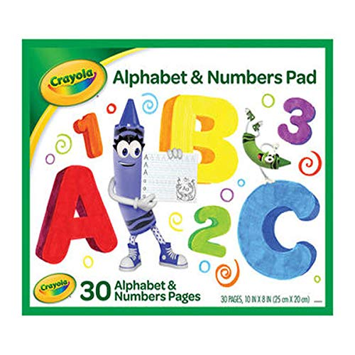 Crayola Alphabet and Number Pad, Tracing Worksheets, 30 -