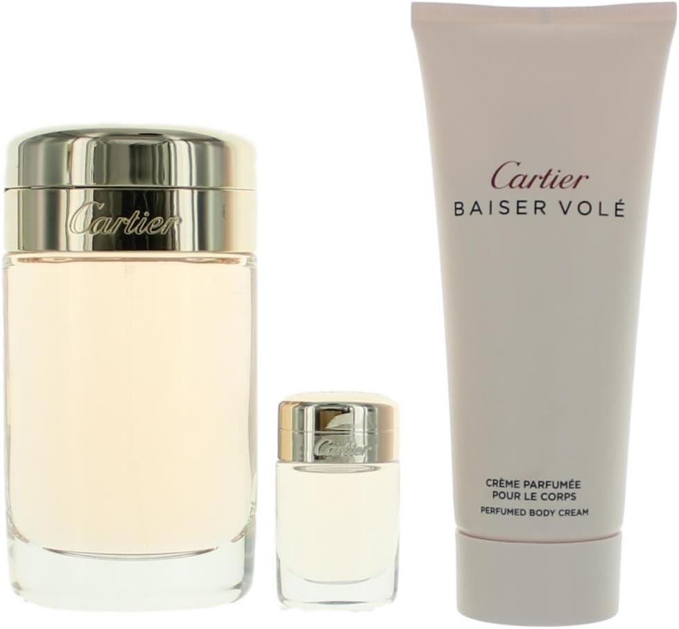 Cartier - Estuche de regalo baiser volé eau de parfum 100 ml + crema + miniatura: Amazon.es: Belleza